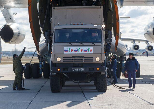 La ayuda rusa a Italia