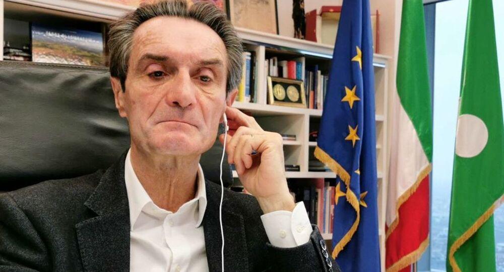 Attilio Fontana, presidente de la región italiana de Lombardía