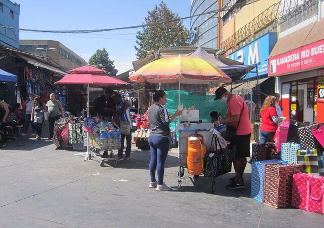 Comercio en centro de Santiago 26 marzo 2020