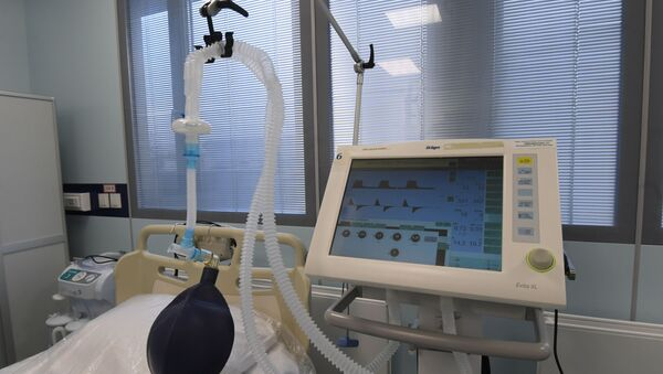 Respirador artificial (imagen referencial) - Sputnik Mundo