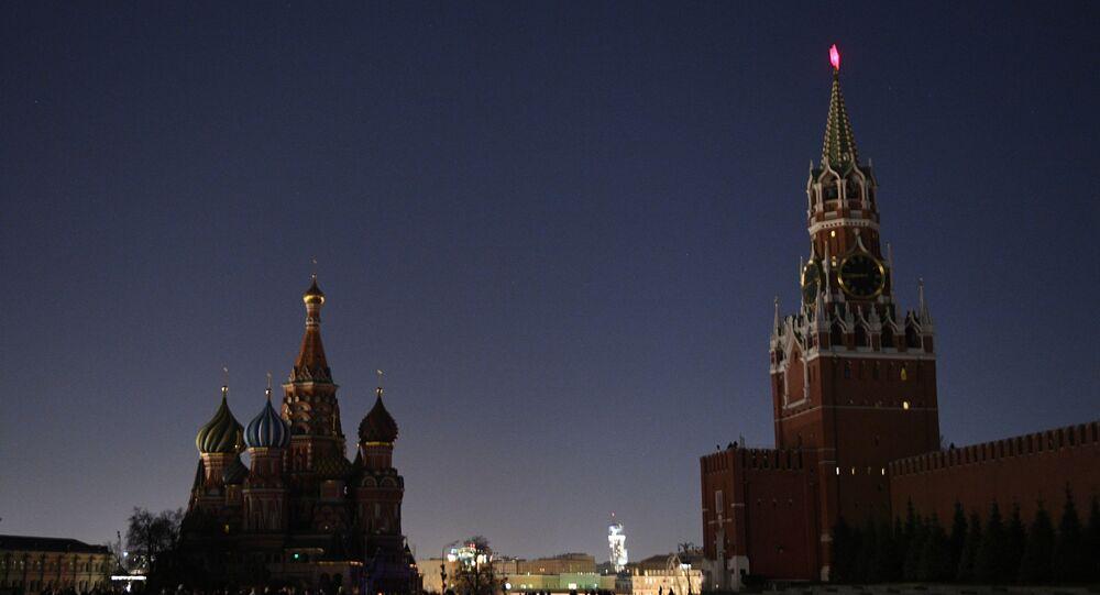 La Plaza Roja durante la Hora del Planeta
