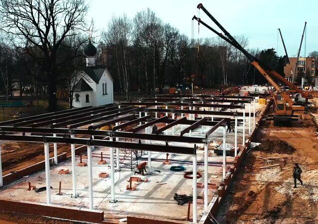 La construcción de un centro médico multifuncional en la ciudad rusa de Nizhni Nóvgorod