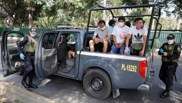 Detenidos en Perú por incumplir las medidas del estado de emergencia - Sputnik Mundo