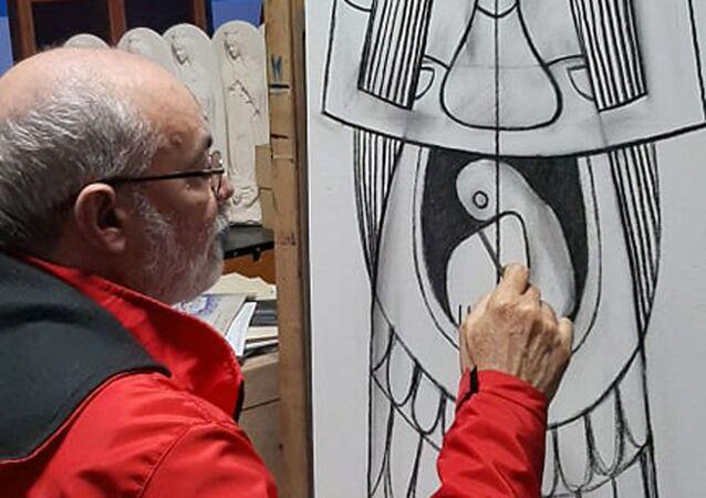 Luis Alberto Ruiz Saavedra, artista plástico cubano