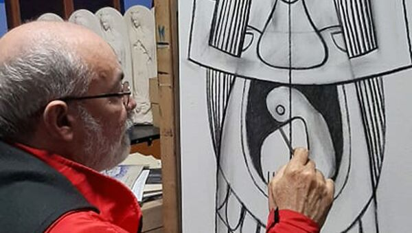 Luis Alberto Ruiz Saavedra, artista plástico cubano  - Sputnik Mundo