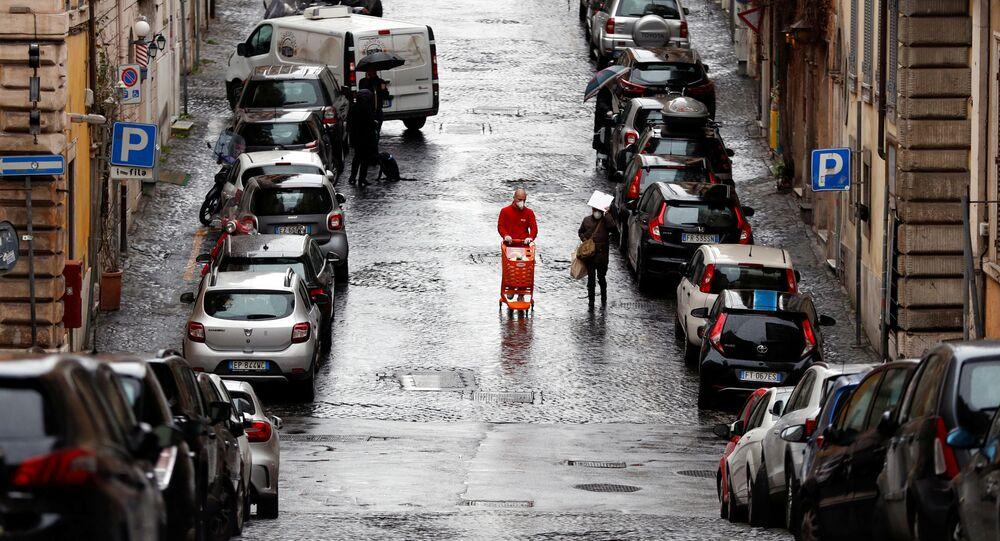 Una calle en Roma durante la cuarentena por coronavirus