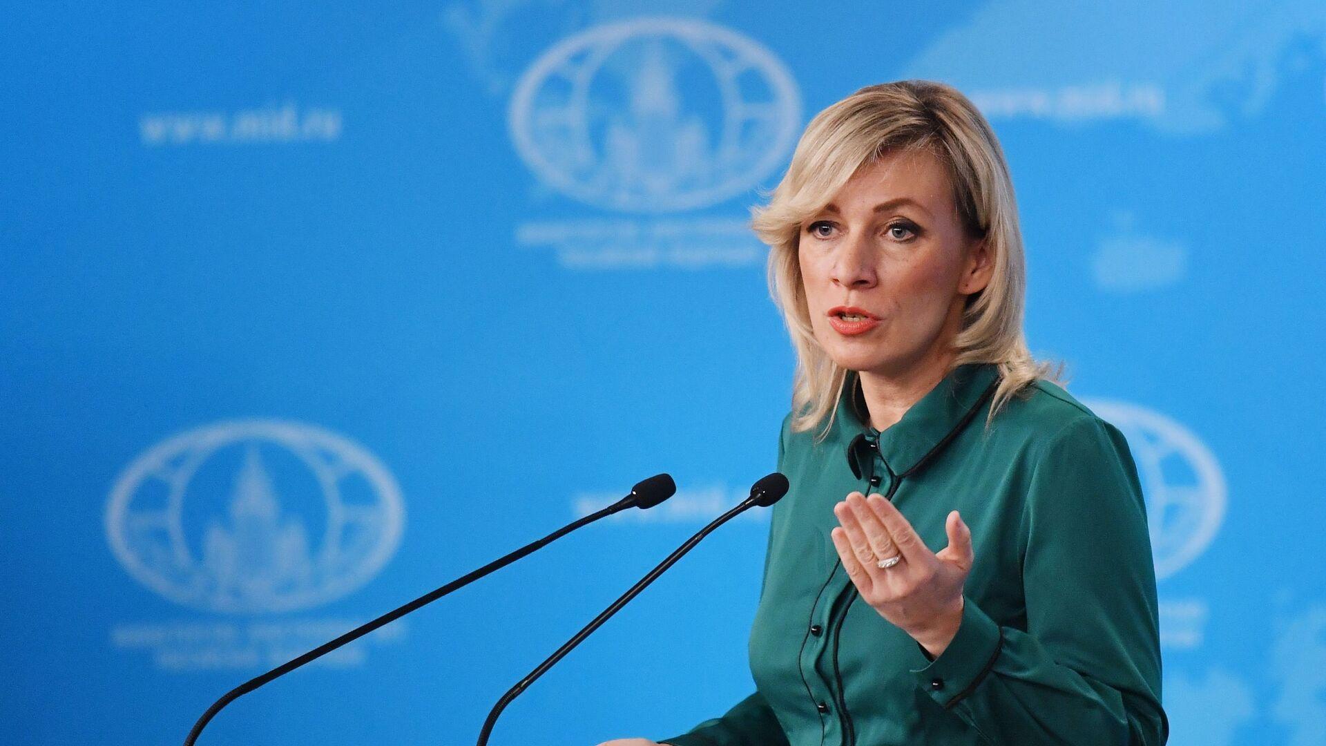 María Zajárova, portavoz del Ministerio de Asuntos Exteriores de Rusia - Sputnik Mundo, 1920, 01.06.2021