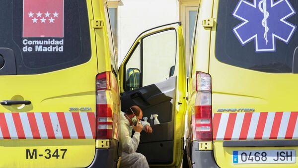 Ambulancias en Madrid - Sputnik Mundo