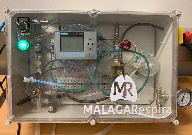 Un respirador creado en Málaga