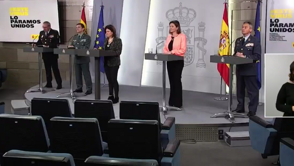 El Comité Técnico de Seguimiento del coronavirus en España comparece ante la prensa  - Sputnik Mundo