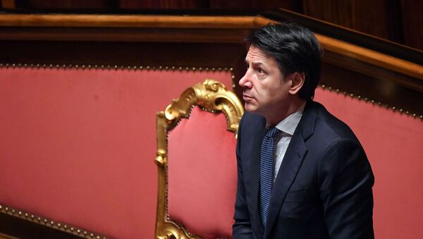 El primer ministro italiano, Giuseppe Conte - Sputnik Mundo