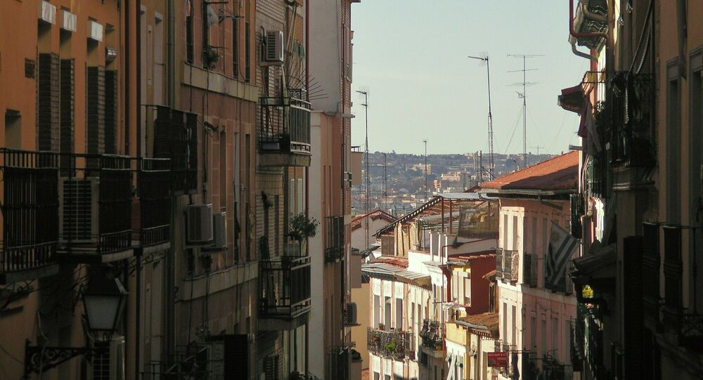 Calle del barrio de Lavapiés (Madrid)