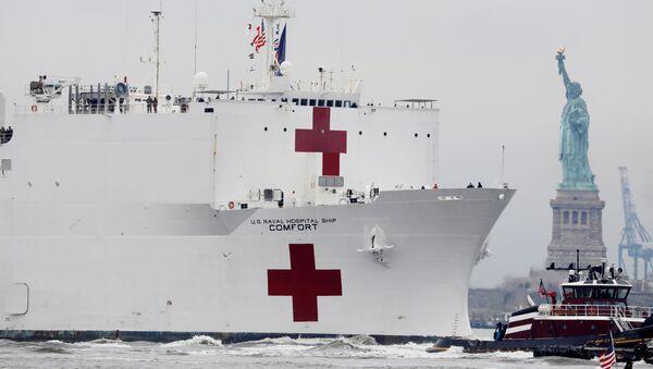 El buque hospital Comfort de la marina de EEUU - Sputnik Mundo
