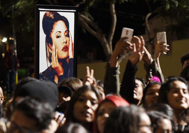 Selena Quintanilla en un homenaje