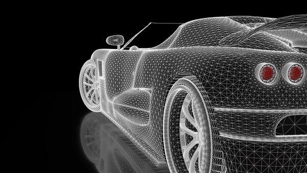 Un automóvil, ilustración - Sputnik Mundo