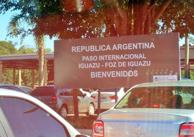Paso fronterizo entre Argentina y Brasil