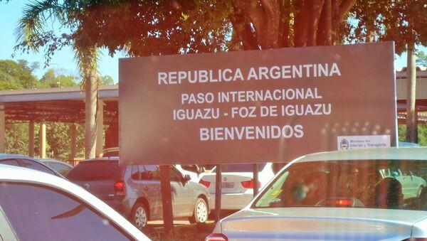 Paso fronterizo entre Argentina y Brasil - Sputnik Mundo