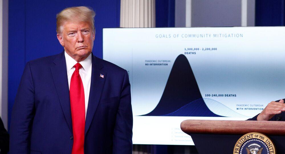 Donald Trump, presidente de EEUU, durante una conferencia de prensa dedicada a la propagación del coronavirus en EEUU, el 31 de marzo de 2020