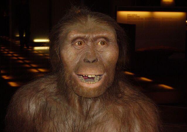Un hombre prehistórico, imagen referencial