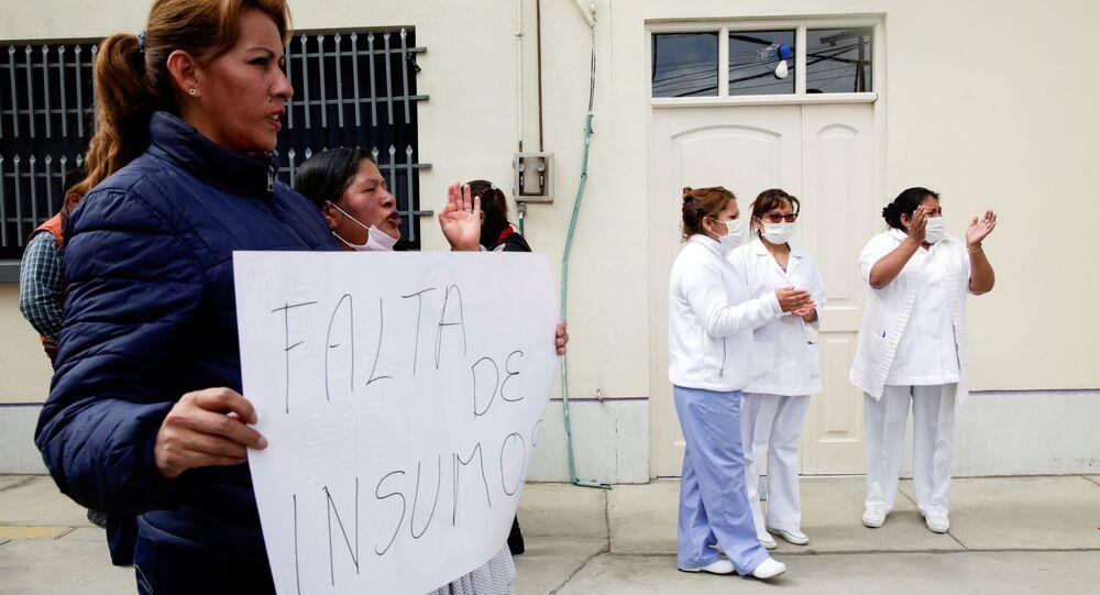 Protestas de los médicos bolivianos (Archivo)
