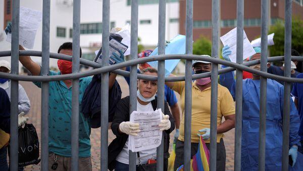Colapso sanitario en Ecuador d7urante el brote de coronavirus - Sputnik Mundo