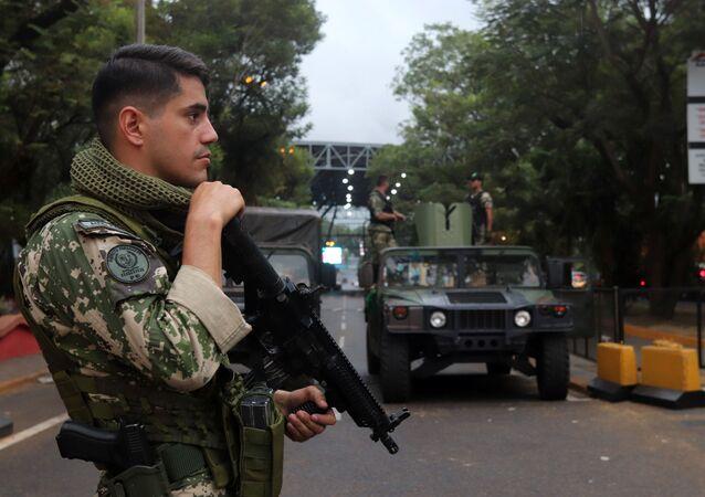 Un soldado de Paraguay