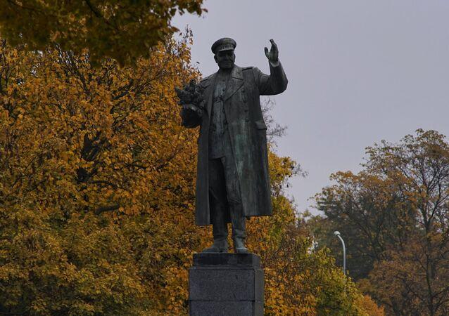 El monumento al mariscal soviético Iván Kónev que liberó Praga de los nazis