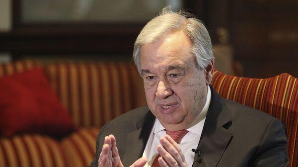 Antonio Guterres, el secretario general de la Organización de las Naciones Unidas (ONU) - Sputnik Mundo