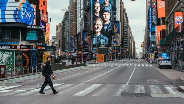 Calles de Nueva York durante la cuarentena - Sputnik Mundo