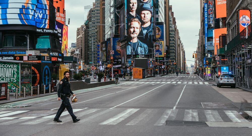 Calles de Nueva York durante la cuarentena