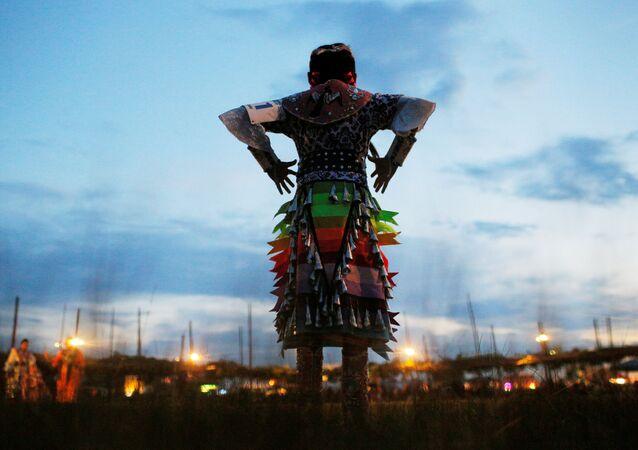 Una mujer indígena