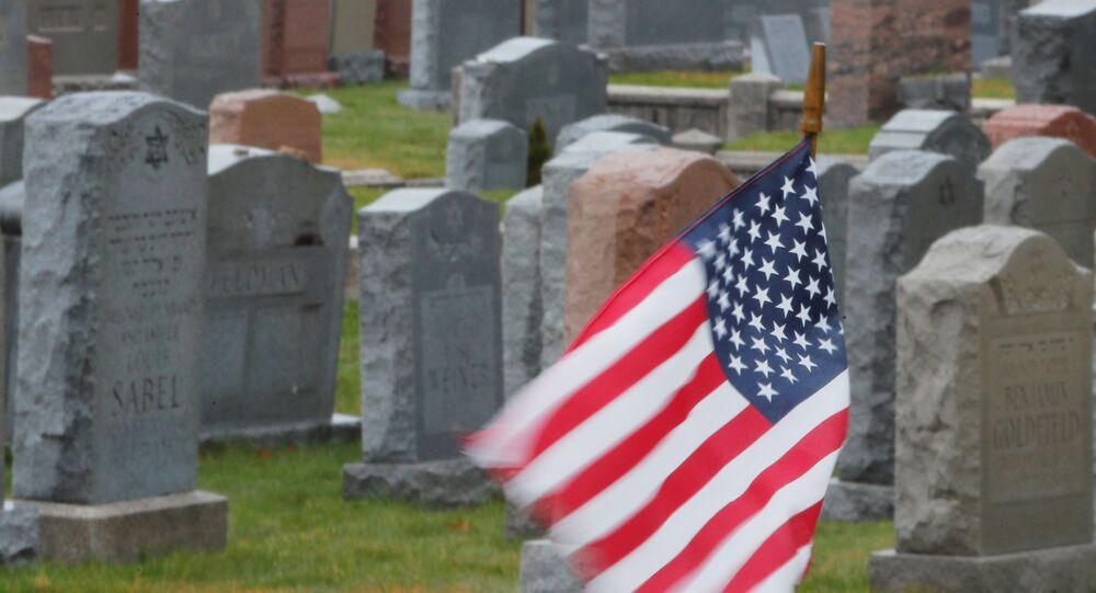 Cementerio en Malden, EEUU