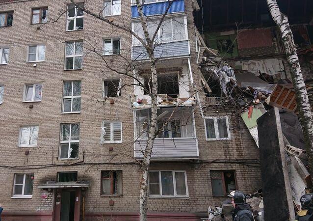 Explosión de gas en un edificio la ciudad de Oréjovo-Zúyevo