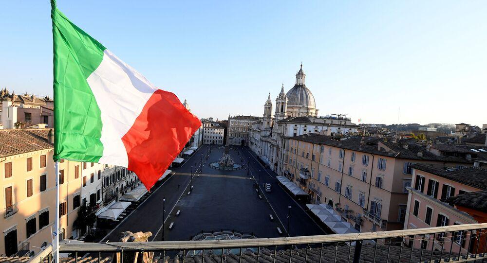 La cuarentena en Roma, Italia