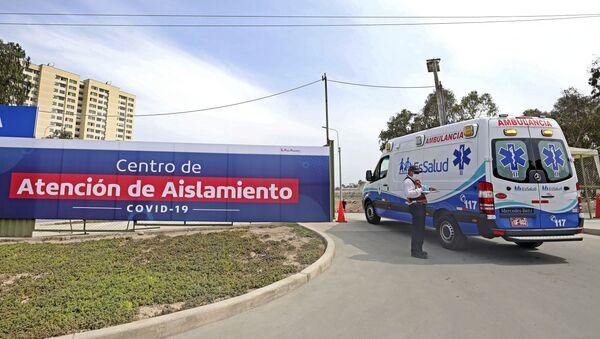 Una ambulancia en Lima, Perú - Sputnik Mundo