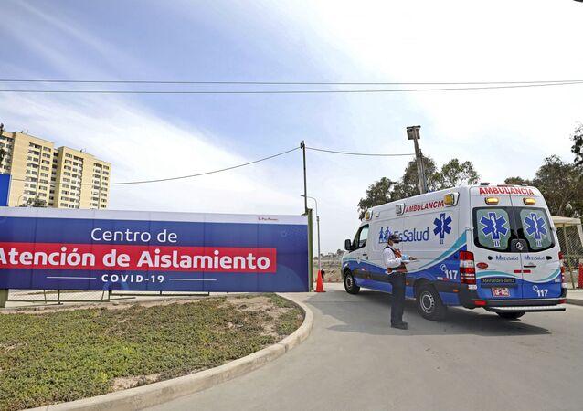 Una ambulancia en Lima, Perú