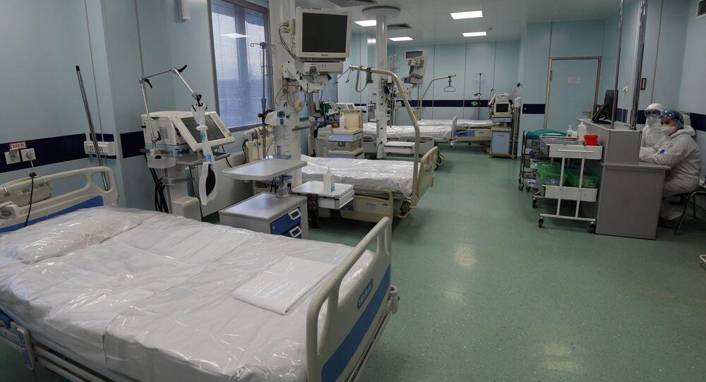 Un hospital para pacientes con coronavirus en Moscú