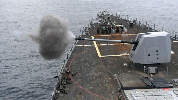 Un buque de guerra (imagen referencial) - Sputnik Mundo