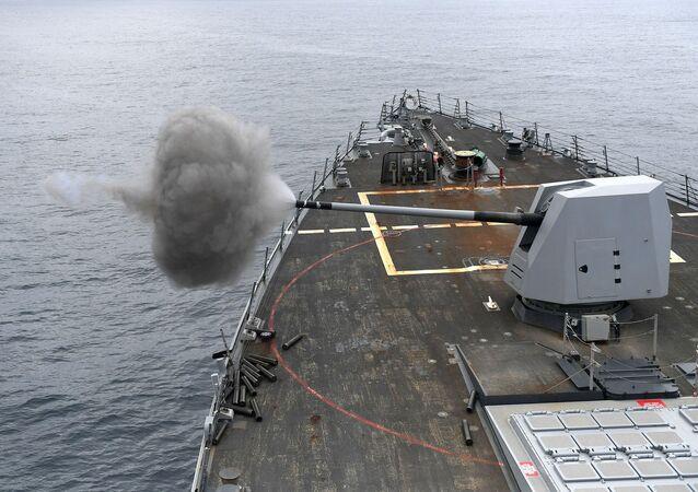 Un buque de guerra (imagen referencial)