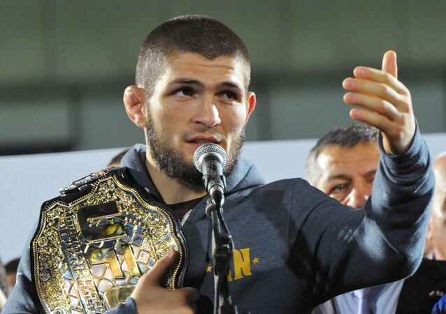 Khabib Nurmagomédov, luchador ruso de artes marciales mixtas