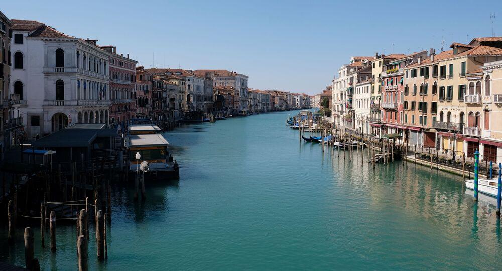 Cuarentena en Venecia, Italia