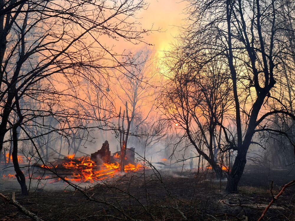 Un incendio en Chernóbil provoca un salto en los niveles de radiación