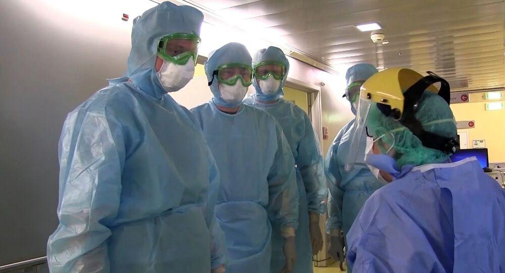 Los médicos rusos en Bérgamo, Italia