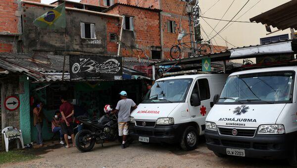 Ambulancias en Sao Paulo, Brasil - Sputnik Mundo