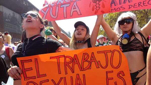 Manifestación por derechos de las trabajadoras sexuales - Sputnik Mundo