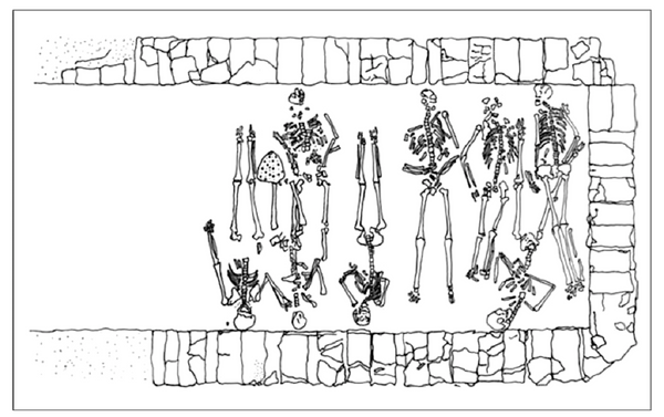 Dibujo de Héctor Velázquez de fosa común del cementerio de coléricos /  - Sputnik Mundo