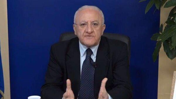 Vincenzo De Luca, presidente de la región de Campania (Italia) - Sputnik Mundo