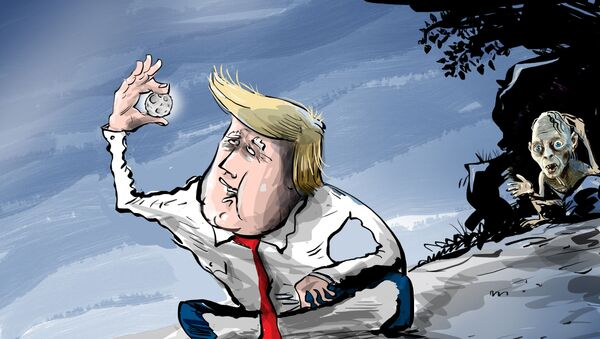 La Luna, el tesoro de Donald Trump - Sputnik Mundo