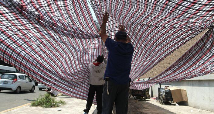 El incendio en asentamiento precario deja indefensos a trabajadores de la central de abasto de la ciudad de México