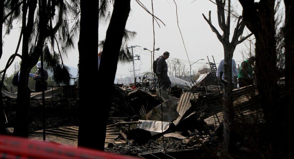 Las consecuencias del incendio en el asentamiento precario
